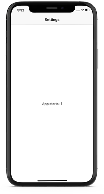 App development solution - Local Storage and App Settings