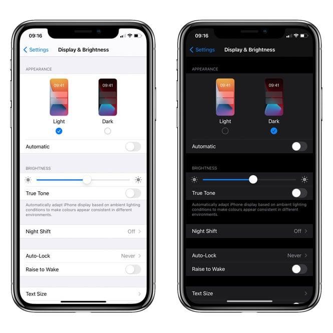 dark-mode-ios-settings