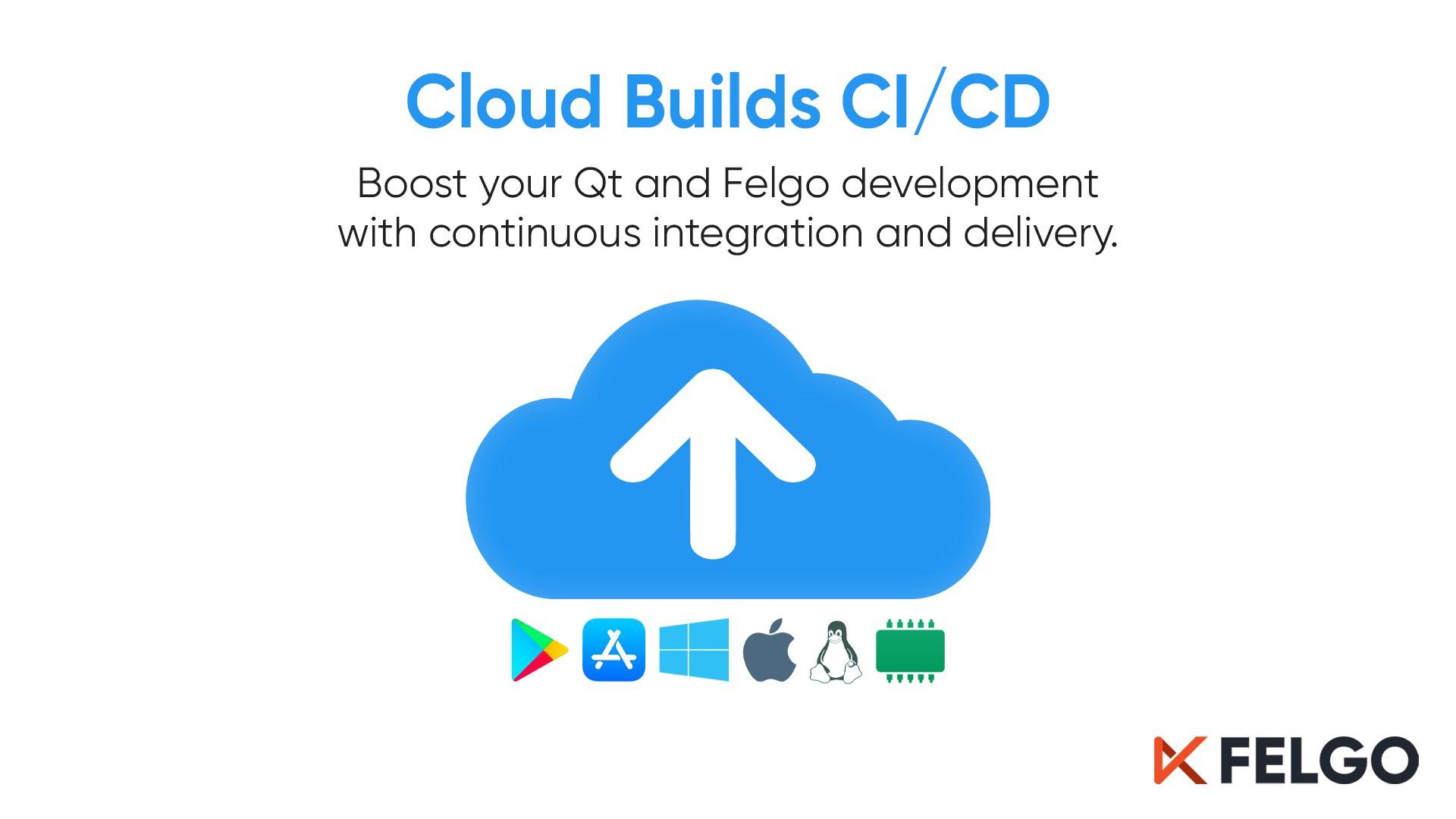 CloudBuildsGraphic - Felgo Cloud IDE