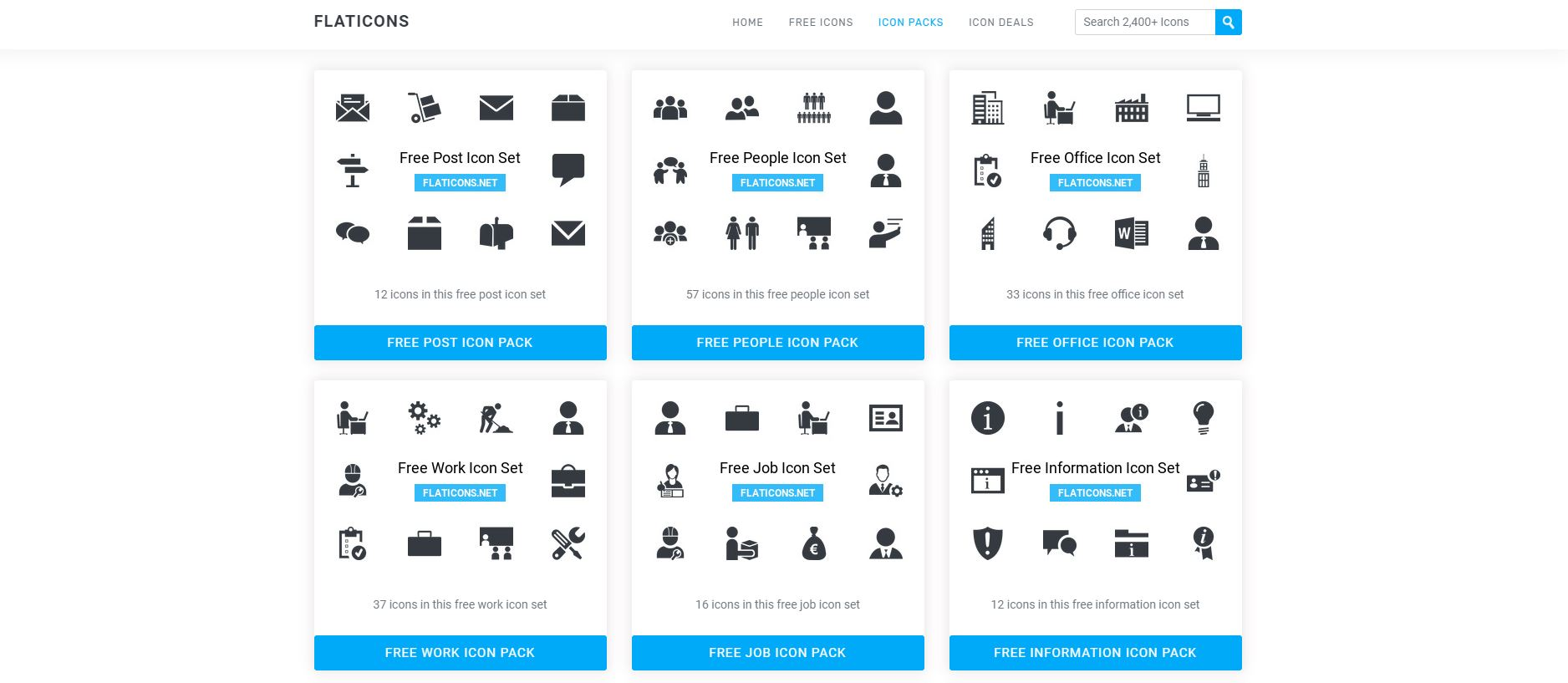 Vector icons - Flaticons 2020