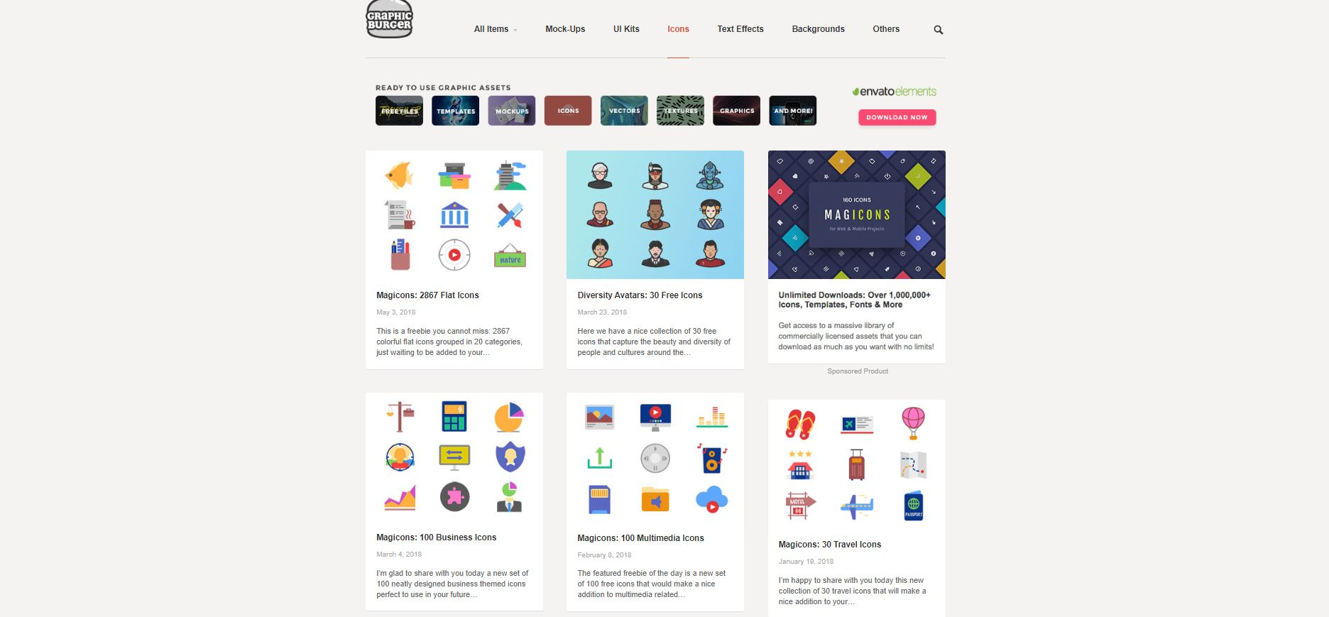 Vector icons - GraphBurger 2020