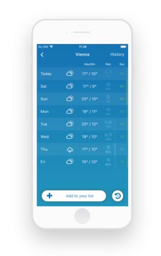 Qt training weather app