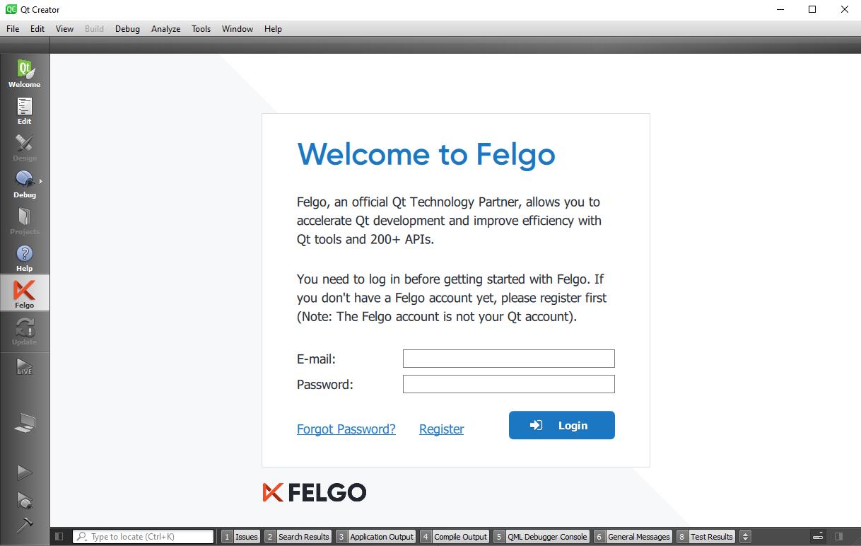 felgo-login-qtcreator