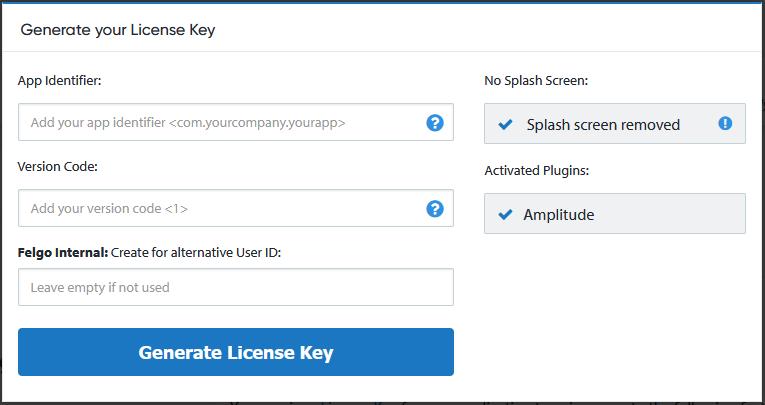 generate-license-key-amplitude