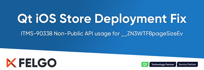 Qt on iOS and the ITMS-90338 Non-Public API usage for __ZN3WTF8pageSizeEv